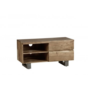 Natural Essential Live Edge Small TV Unit