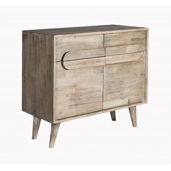 Greyston Wooden Small Sideboard with 2 Drawers and 2 Doors