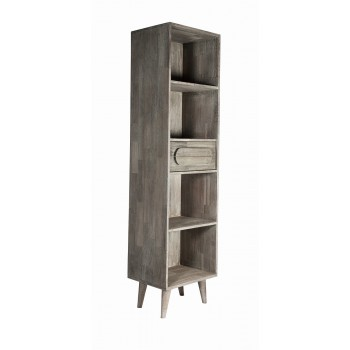Greyston Wooden Slim Tall Bookcase
