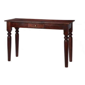 Maharani Dark Wood Console Hall Table with Drawer