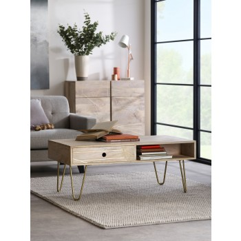 Rectangular Coffee Table Dallas Light Mango