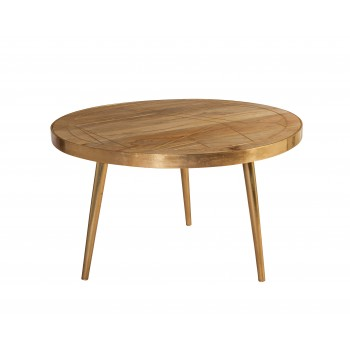 Round Coffee Table Dallas Light Mango
