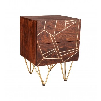 Side Table Dallas Dark Mango