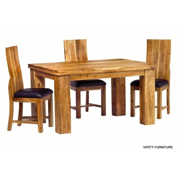 Acacia Dining Table - Small with 4 Chairs
