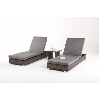 Escape Sunlounger Set / Grey