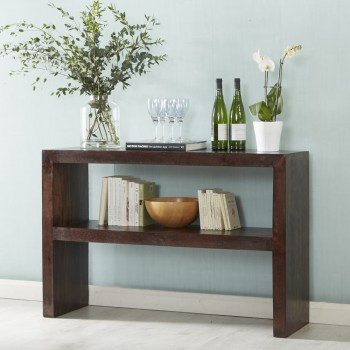 Dakota Mango Console Table with Shelf