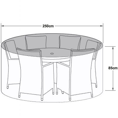 Outdoor Cover for 6 Seat Round Dining Set