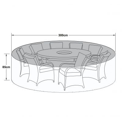 Outdoor Cover for 8 Seat Round Dining Set