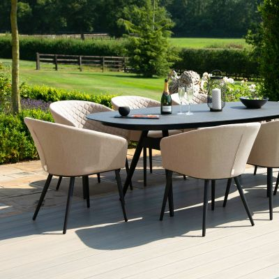 Abbie 8 Seat Oval Dining Set / Taupe
