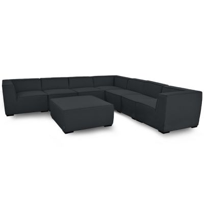 Aiden Large Corner Sofa Group / Charcoal