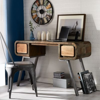 Retro Metal & Wood Desk