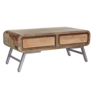 Retro Metal & Wood Coffee Table