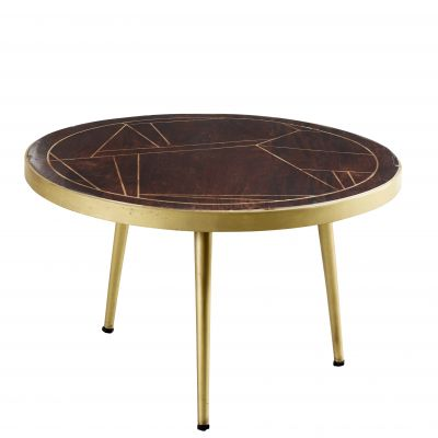 Round Coffee Table Dallas Dark Mango