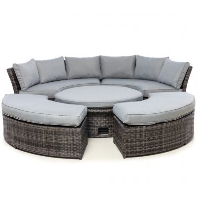 Cameron Lifestyle Suite with Glass Table / Grey