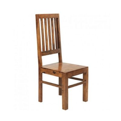 Cube Indian Wood High Slat back Chair (pair)