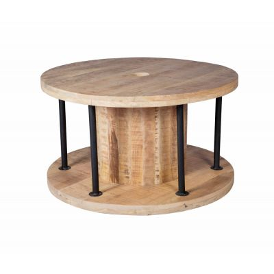 Wire Roll Coffee Table Industrial Style