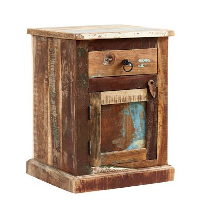 Reclaimed Boat Bedside Table