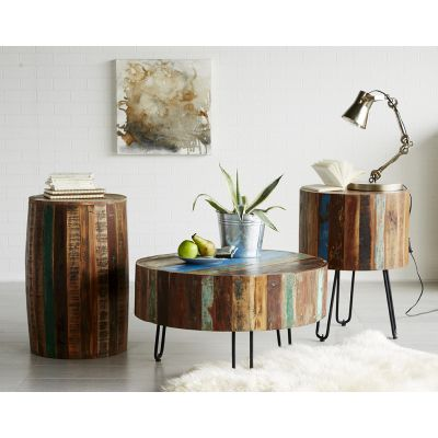 Reclaimed Boat Drum Coffee Table