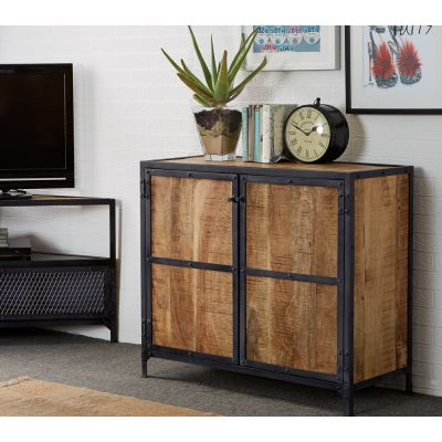 Vintage Up cycled Industrial Wood Small Sideboard