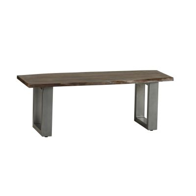 Dining Bench Grey Essential Live Edge