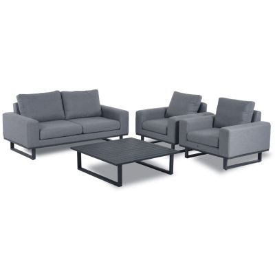 Edward 2 Seat Sofa Set with Coffee Table / Flanelle