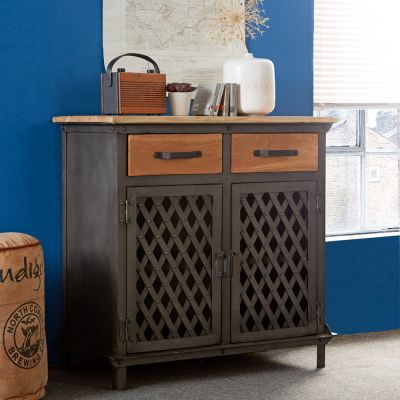 Urban Industrial 2 Door Small Sideboard