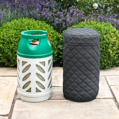 Fabric 10kg Gas Bottle Cover in Charcoal
