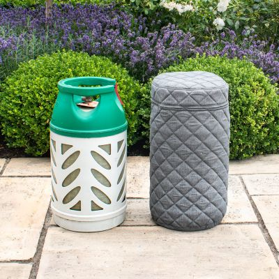 Fabric 10KG Gas Bottle Cover in Flanelle