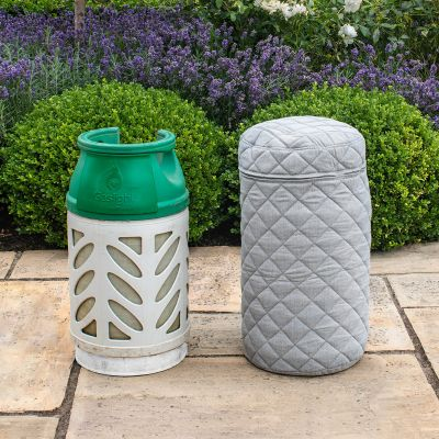 Fabric 10KG Gas Bottle Cover in Lead Chine