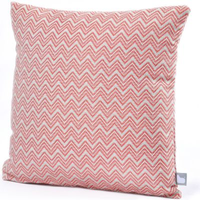 Fabric Scatter Cushion in Polines Red- Pack of 2