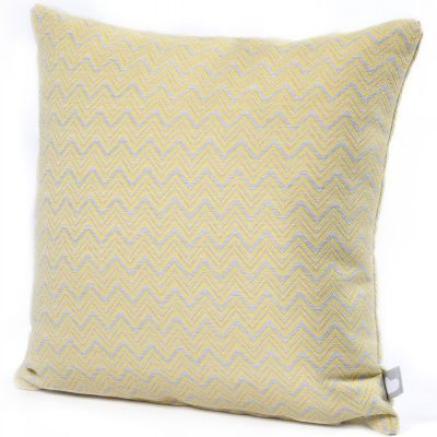 Fabric Scatter Cushion in Polines Yellow- Pack of 2