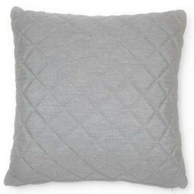 Fabric Scatter Cushion Quilted Lead Chine- Pack of 2