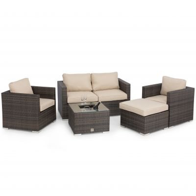 Glenmore 2 Seat Sofa Set with Ice Bucket / Brown