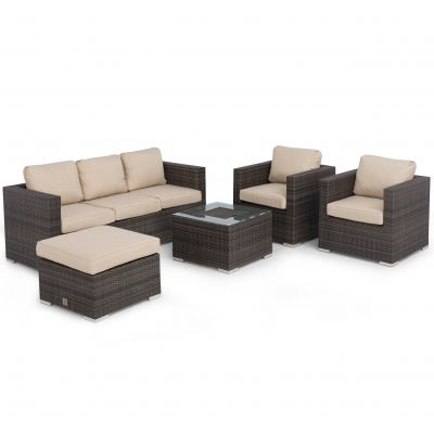 Glenmore 3 Seat Sofa Set With Ice Bucket / Brown