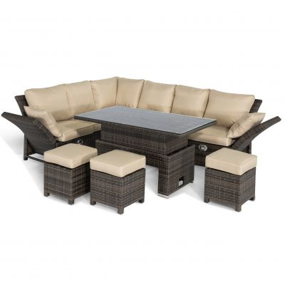 Hamar Corner Dining Set with Rising Table / Brown