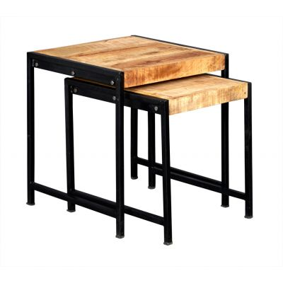 Up cycled Industrial Style Mintis Nest of 2 Tables