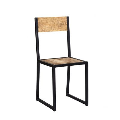 Upcycled Industrial Mintis Metal and Wood Chair