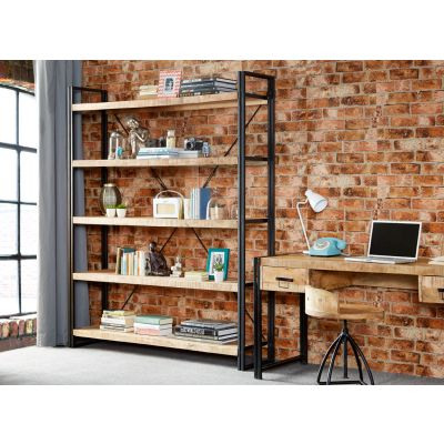 Up cycled Industrial Mintis Extra Large Open Bookcase