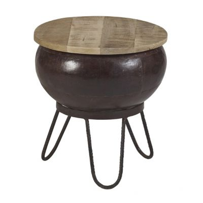 Upcycled Industrial Mintis Round Low Seater