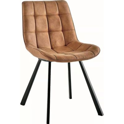 Contemporary Design Dining Chairs in Light Brown Colour  - Set of 2
