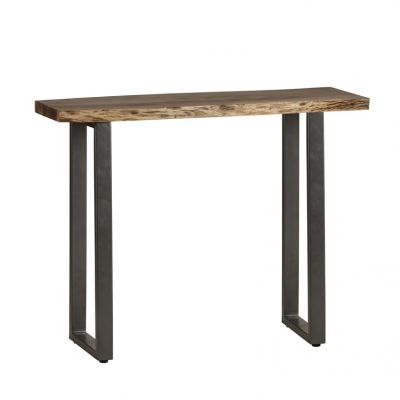 Natural Essential Live Edge Console Table
