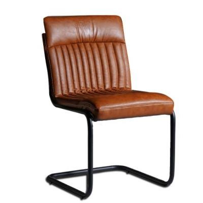 Brown Modern Dining Chairs  - Set of 2