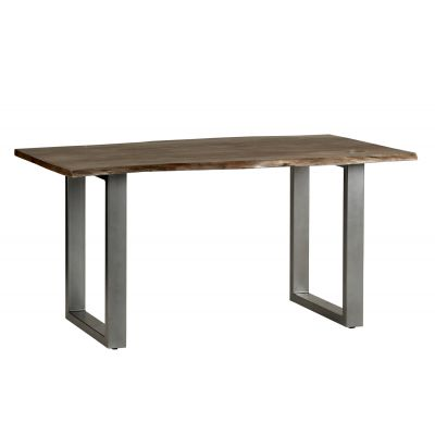 Medium Sized Dining Table Grey Essential Live Edge