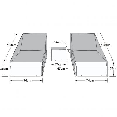 Outdoor Cover for Sunlounger Set