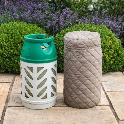 Outdoor Fabric 10kg Gas Bottle Cover in Taupe