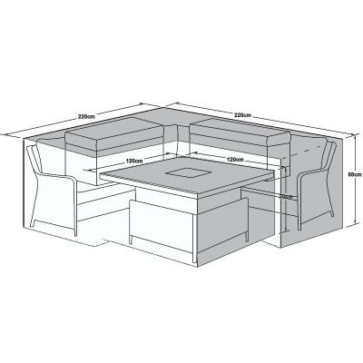 Outdoor Winter Cover for Royal Corner Dining Set