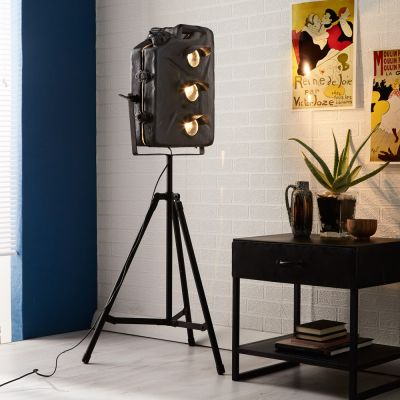 Iron Jerry Can Floor Lamp