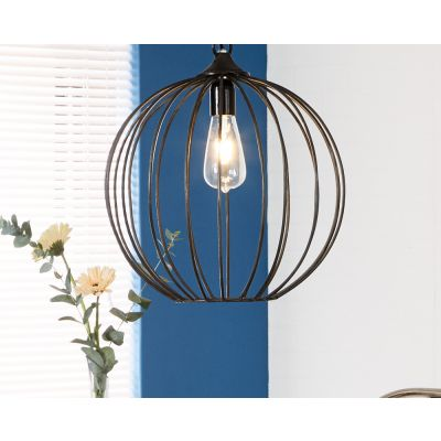 Iron-Sphere Cage Hanging Lamp