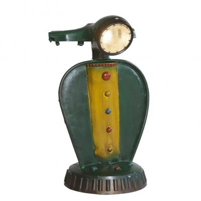Vespa Recycled Metal Scooter Table Lamp