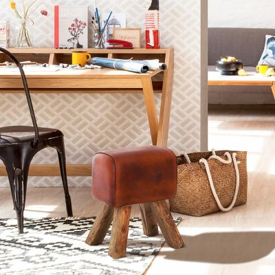 Stool Turn Buck Genuine Leather